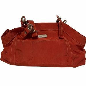 Baggallini Large Tote Handbag in Red w/Orange